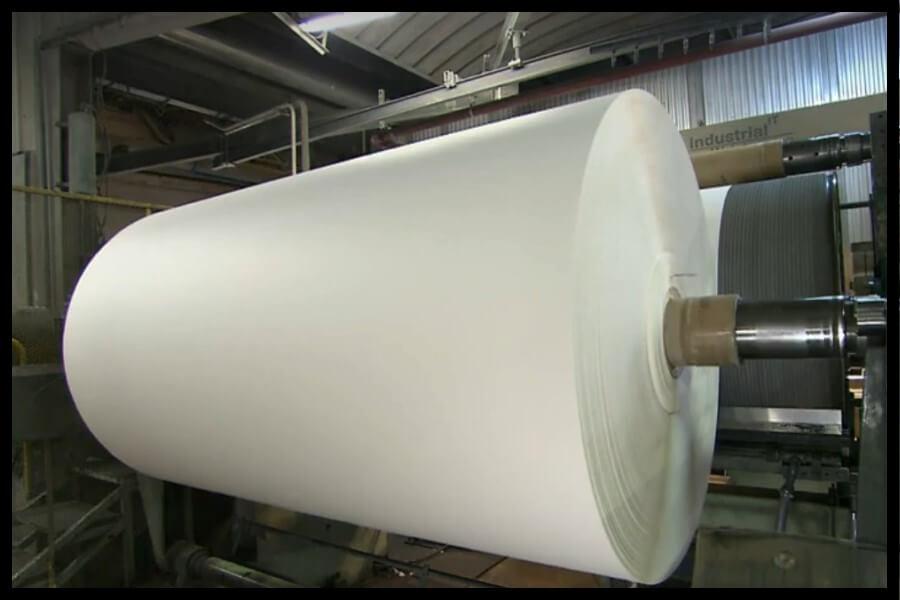 bobina de papel vegetal