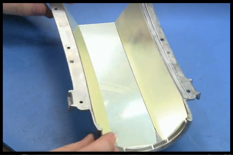 aluminio luz foco