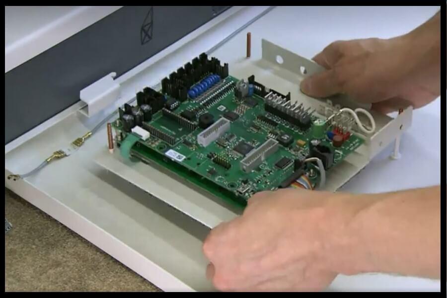 panel informático de control